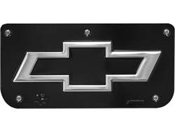 Picture of Single Bowtie Black Wrap Plate With Screws For 12