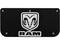 Picture of Single RAM Vertical Logo Black Wrap Plate With Screws For 12
