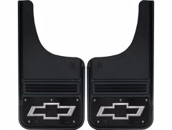 Picture of Truck Hardware Gatorback Mud Flaps - Black Wrap Chevy Bowtie Logo