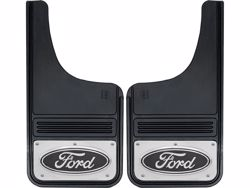 Picture of Truck Hardware Gatorback Mud Flaps - Ford Black Oval Logo