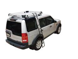 Picture of Rhino-Rack Folding Ladder - 6' Length - Black Powdercoated Zinc Plated Steel - For Use w/Rhino Alloy Trays/Baskets - Includes Storage Bag