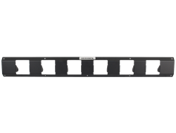 Front - Six Q Style Lights - Lights Not Included - Textured Black