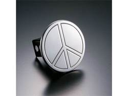 Picture of Trailer Hitch Cover - Peace - Aluminum - Polished