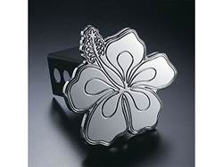 Picture of Trailer Hitch Cover - Hula Biscus - Aluminum - Polished