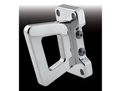 Picture of Show Hook Tow Hook - Pair - Polished Aluminum - Not Rated/Use At Your Own Risk - Front