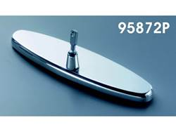 Picture of Rear View Mirror - Polished - 8 in. Oval Mirror Plain - Incl. Bracket - For 1958-1972 Chevy Only