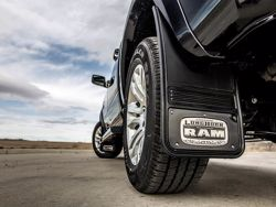 Picture of Truck Hardware Gatorback Mud Flaps - Black Wrap RAM Longhorn Logo