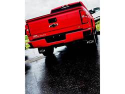Picture of 2014-2018 Chevy Silverado Bowtie With Black Wrap Gatorback Mud Flaps - Set