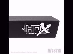 Picture of Westin HDX Stainless Drop Nerf Step Bars - Textured Black - Fits Silverado 1500 Crew Cab 2019