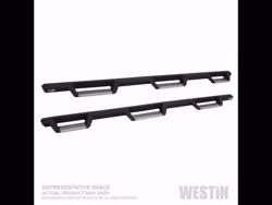 Picture of Westin HDX Stainless Drop Wheel-to-Wheel Nerf Step Bars - Textured Black - Fits Silverado 1500 Crew Cab 2019 5.5 ft Bed