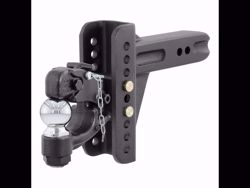 Picture of Curt Adjustable Channel Ball Mount with Pintle - 2.5
