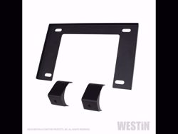 Picture of Westin Outlaw Bumper License Plate Mount - Textured Black