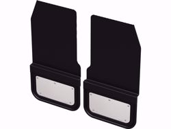 Gatorback Removable Rubber Front Mud Flaps - Stainless Steel Plate