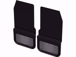Gatorback Removable Rubber Mud Flaps - Gunmetal Finish Stainless Steel Plate