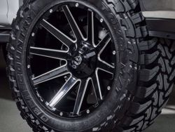 Fuel Contra Machined Gloss Black Wheels