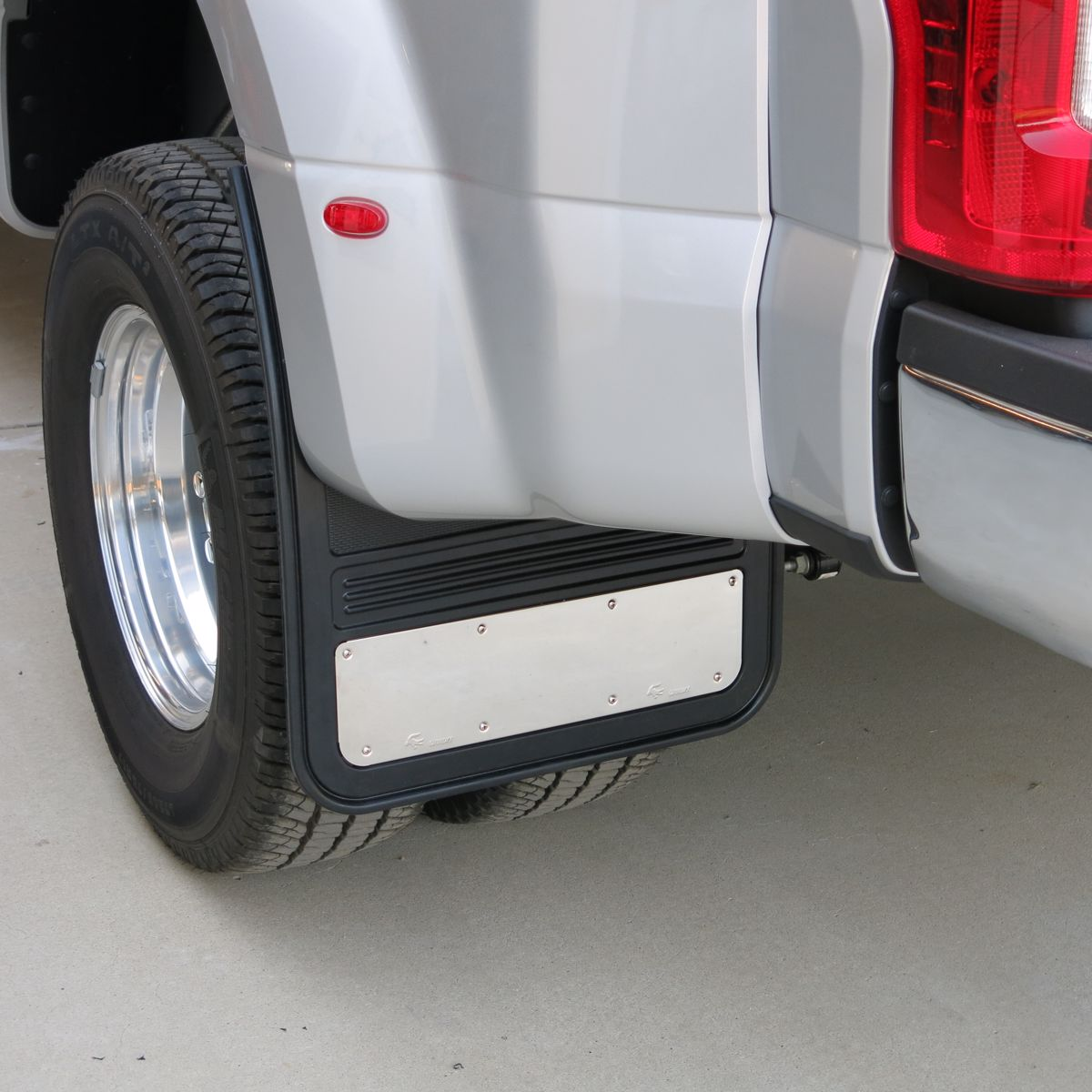 Gatorback Stainless Steel Plate Truck Mud Flaps 19x24 Rear Dually Pair