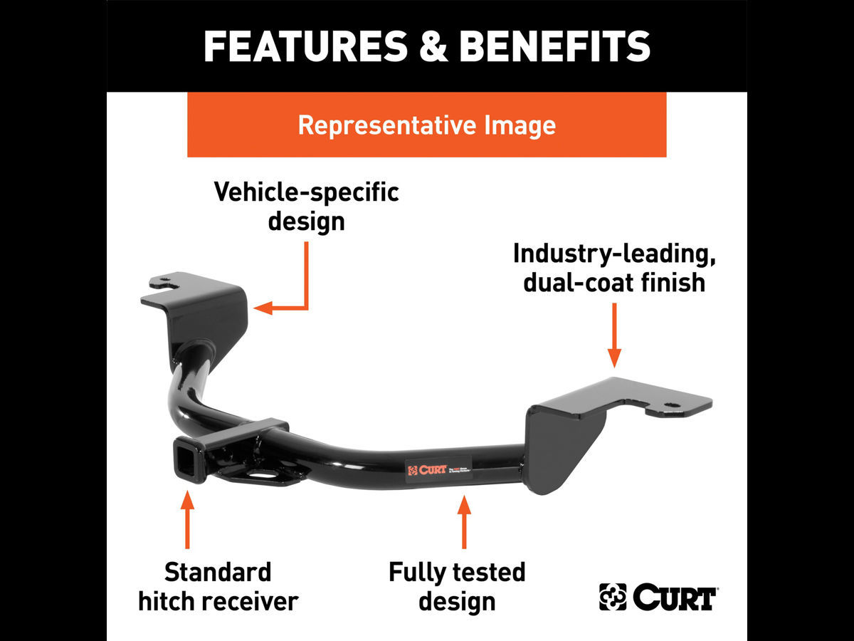 CURT 113773 Class 1 Trailer Hitch with Ball Mount 1-1//4-Inch Receiver for for Select Mazda 3