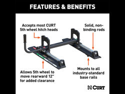 Picture of Curt R16 Fifth Wheel Roller - 16000 lbs. Gross Trailer Weight - Use w/PN[16515] - Use PN[16505 When Adapting From 16115]