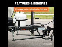 Picture of Curt Sway Control Kit - Includes Sway Unit - Trailer Ball w/Hardware - Hitch Ball - Weld-On Tab - Reinforcement Plate - Attachment Clips