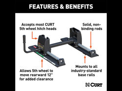 Picture of Curt R24 Fifth Wheel Roller - 24000 lbs. Capacity - Use w/Fifth Wheel Hitch Head PN[16545]