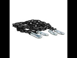 Picture of Curt Safety Chain Assembly w/Safety Latch Hooks - Powder Coated Finish - .25