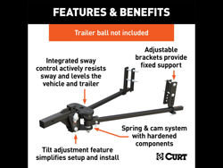 Picture of Curt Weight Distribution System - TruTrack - 8000 lb. Gross Trailer Weight - w/Integrated Sway Control