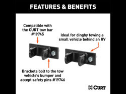 Picture of Curt Adjustable Tow Bar Brackets - Compatible w/PN[19745]