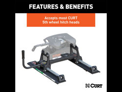 Picture of Curt R20 Fifth Wheel Roller - 20000 lbs. Capacity - Use w/5th Wheel Hitch Head PN[16530]
