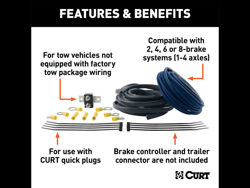 Picture of Curt Brake Control Wiring Kit - For 2 - 4 - 6 - And 8 Brake Systems - For Use On Tow Vehicles
