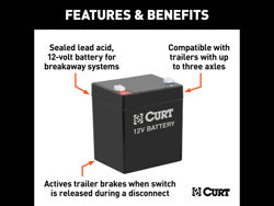 Picture of Curt Battery - 12 Volt - 5.0 Amp/Hr. For 1-3 Axle - 4