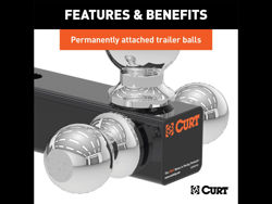 Picture of Curt Replacement Multi Ball - Adjustable Replacement Tri-Ball For PN[45799]