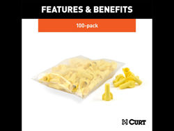 Picture of Curt Wire Nuts - Yellow - Qty 100