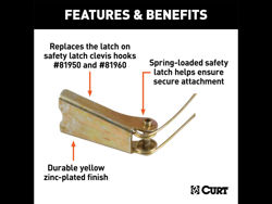 Picture of Curt Safety Latch Repair Kit - Stainless Steel