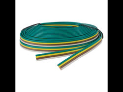 Picture of Curt Trailer Wire - Bonded 16 Gauge 4-Wire - 25 Ft White - Brown - Yellow - Green - Packaged