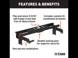 Picture of Curt Double Lock Gooseneck Hitch - Includes Hitch PN[60619] 30000 lbs. GTW And Install Kit PN[60648]