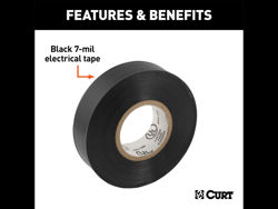 Picture of Curt Electrical Tape - Black - 7 Mil. - 0.75
