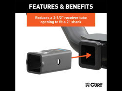 Picture of Curt Adapter Sleeve - Adapts 2.5