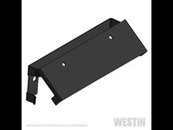 Picture of Winch Mount License Plate Relocator - Steel - Black Powder Coat