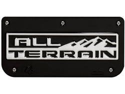 Single All-Terrain Black Wrap Plate With Screws For 12