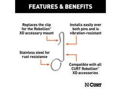 Picture of Curt Rebellion XD Hitch Clip - Fits 2 Or 2.5 in. Receiver Tubes