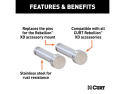 Picture of Curt Rebellion XD Hitch Pin - Fits 2 Or 2.5 in. Receiver Tubes