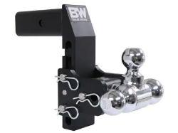 B&W Tow & Stow Adjustable Tri Ball Mount - 2.5