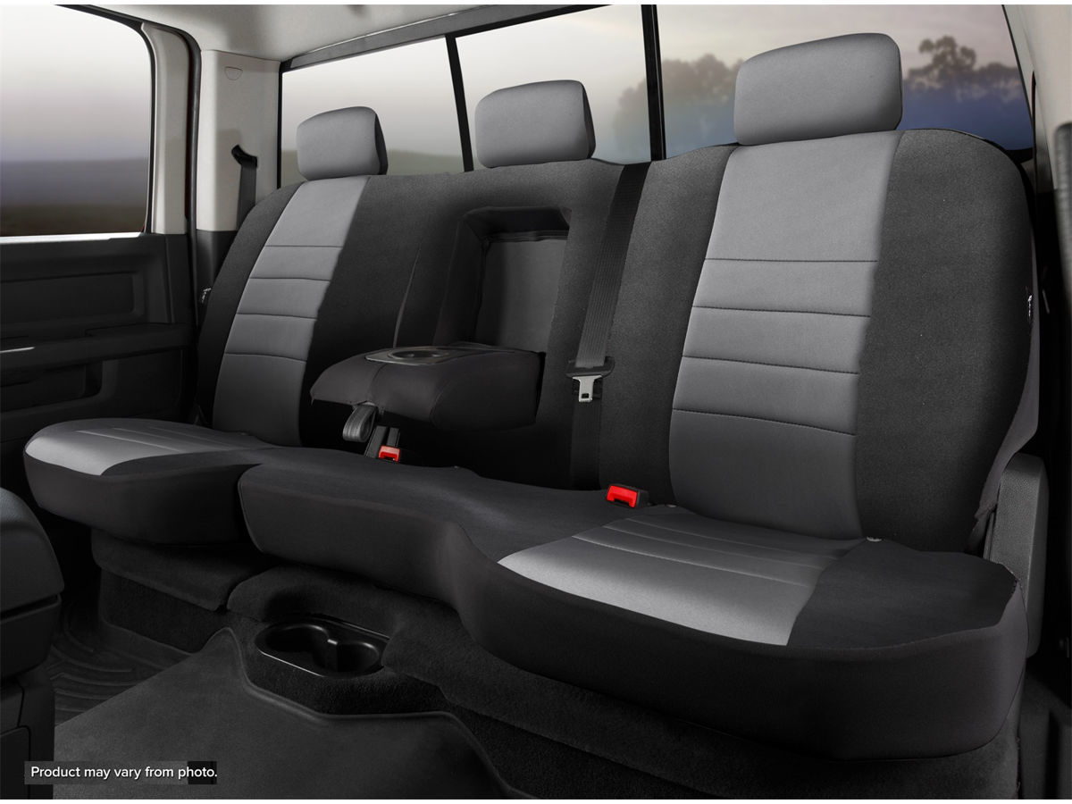 Rear Bench Seat//Neoprene Center Panel NP92-72 GRAY FIA NP92-72 Black with Gray Cover