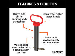 Curt Clevis Pin w/Handle