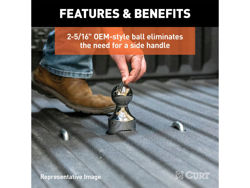 Picture of Curt OEM Style Gooseneck Hitch Ball - 35000lbs. Gross Trailer Weight - 2.3125 in. Ball Dia.