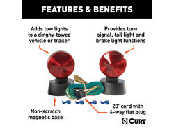 Picture of Curt Magnetic Base Towing Light - Includes 20' Cord w/4-Way Flat Plug
