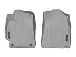 Picture of WeatherTech Floor Liners - Gray - Front - 2 Piece