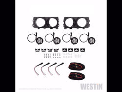 Picture of Westin Outlaw Bumper Light Kit - Round - For Westin Outlaw Front Bumpers - Includes 4 LED Auxilary Lights & 2 Brackets